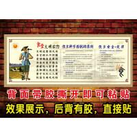 食堂文化标语墙贴 餐厅饭堂布置食堂文明公约礼仪口号宣传挂图 大
