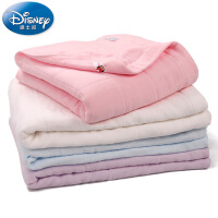 迪士尼Disney六重纱布毛巾被儿童秋冬格纹纱布大盖毯空调被