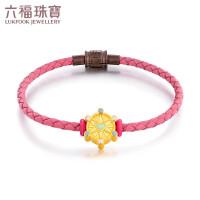 六福珠宝幸福摩天轮系列珐琅工艺黄金转运珠足金手绳定价GFA1TBP0016