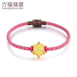 六福珠宝幸福摩天轮系列珐琅黄金转运珠足金手绳定价GFA1TBP0016