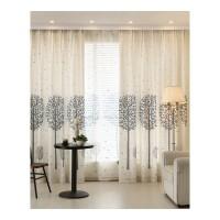客厅窗帘成品 简约现代欧式大气半遮光布料书房亚麻棉麻窗帘.