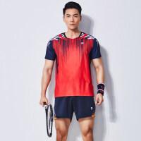 羽毛球服运动服套装男女款吸汗透气羽毛球队服短袖圆领