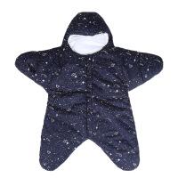 四季卡通海星婴儿睡袋抱被新生儿宝宝分腿睡袋 星空蓝 棉里布