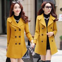 2018春秋季新款韩版女装宽松呢子大衣大码中长款端庄大气毛呢外套
