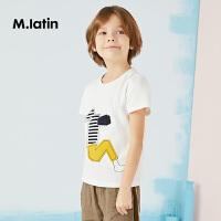 【6折价:161.4元】马拉丁童装男童短袖T恤夏装新款趣味印花儿童舒适纯棉T恤男