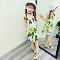 女童沙滩裙2018新款连衣裙海边度假波西米亚风格公主吊带裙子