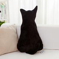 日式可爱背影猫咪大抱枕公仔毛绒玩具靠垫靠枕圣诞节生日礼物女生 高度约70cm