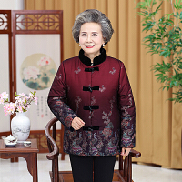 中老年人女装棉衣冬装60-70-80岁中长款妈妈装加厚奶奶装棉袄