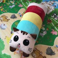 可拆洗卡通熊猫抱枕兔子毛绒玩具公仔娃娃单双人枕头床头大靠背垫