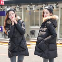 新款大码羽绒棉衣女装0斤胖mm冬装中长款棉袄外套货