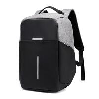 男士双肩包旅行多功能防盗15.6寸电脑包英伦书包大学生商务背包男