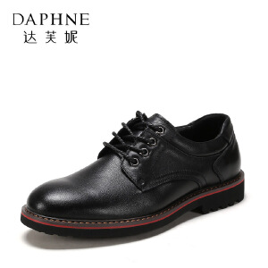 SHOEBOX/鞋柜春秋时尚休闲系带商务男鞋皮鞋1117414054-