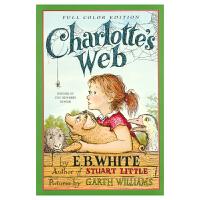 【首页抢券300-100】Charlotte's Web 夏洛特的网 夏洛的网原版进口 全彩插图版 英语学习课外阅读读物