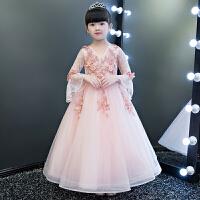 钢琴演出服主持人晚礼服走秀 儿童礼服公主裙女童婚纱蓬蓬长袖花童