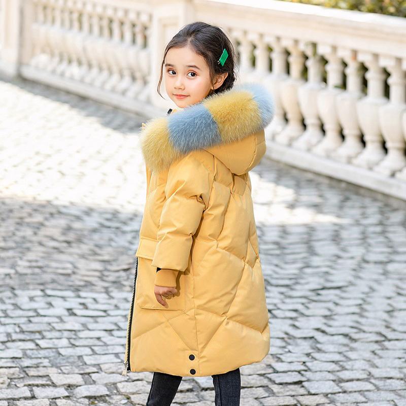 儿童羽绒服女童中长款中大童装宝宝冬季外套