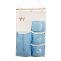 居家家棉麻防水收纳挂袋悬挂式多层挂兜布艺门后杂物储物袋收纳袋 如图