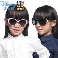 迪士尼儿童太阳镜女童墨镜防紫宝宝太阳眼镜女童偏光蛤蟆镜3-12岁