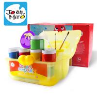 JoanMiro 美乐 儿童手指画水彩颜料套装12色百宝箱可水洗