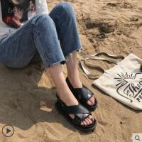 户外新品网红同款罗马凉鞋女仙女风ins潮超火新款韩版学生百搭平底沙滩鞋
