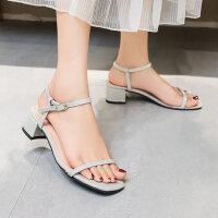 仙女风户外时尚女士凉鞋休闲舒适中跟鞋韩版女鞋