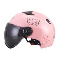 电动摩托车头盔防晒半盔夏季男女可爱个性轻便式四季安全帽通用