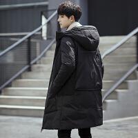 冬季男士羽绒服中长款加厚长款过膝修身款学生冬装外套风衣正品