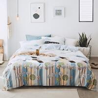 家纺全棉床上用品床罩床笠四件套纯棉1.8m床单被套床品4件套5