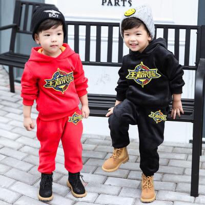 女宝男宝棉衣套装宝宝冬装1-3岁7儿童卫衣两件套幼儿男童韩版潮衣 发货周期:一般在付款后2-90天左右发货,具体发货时间请以与客服协商的时间为准