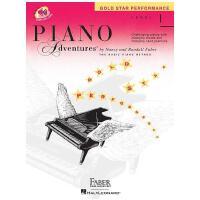 【现货】钢琴的冒险 1级含在线下载资源 Piano Adventures: Level 1: Gold Star Pe
