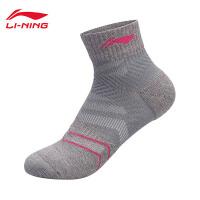 李宁短筒短袜女士2018新款训练系列运动袜AWSN038