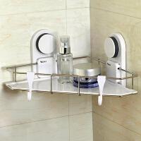 吸盘三角架浴室置物架吸壁式卫生间用品卫浴洗手间壁挂收纳架