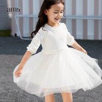 AMII女中大儿童连衣裙秋新款公主韩版时尚蓬蓬纱6-12岁超仙洋气
