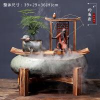 禅意中式流水摆件喷泉风水客厅办公室加湿器创意家居开业礼品