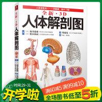 正版 全新3D人体解剖图 人体肌肉解剖运动解剖学断层局部解剖学图谱解剖书教材卫生解剖生理学专业基础医学书运动图谱人体解