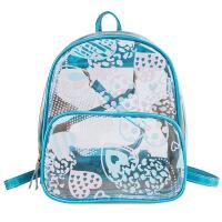 韩版儿童包包女童时尚可爱果冻透明背包公主女孩休闲旅游双肩包潮