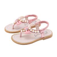 夏季儿童凉鞋时尚女童人字沙滩鞋蝴蝶结公主鞋