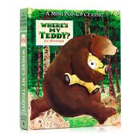 【满300-100】我的泰迪熊去哪了Pop-up立体书 where's my Teddy 英文原版绘本 廖彩杏书单 幼儿