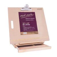 桌面台式画架画板套装木制折叠油画架水彩素描写生工具箱