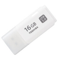 �|芝(TOSHIBA)隼�W系列USB 3.0 U�P 16G 白色 �|芝���P已�更名�z�b���P,品�|一��!