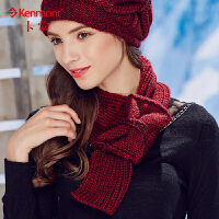 kenmont冬季毛线围巾女韩国冬天编织蝴蝶结保暖围脖女士羊毛围巾1822