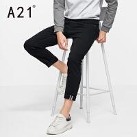 以纯A21 男士弹力修身休闲裤男 青年纯棉裤子小脚裤