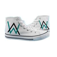艾伦沃克DJ高帮帆布鞋男鞋板鞋Alan Walker电音Faded大码鞋