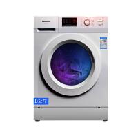 松下(Panasonic)8公斤1200转变频智控滚筒洗衣机 免熨烫高温煮洗 XQG80-J8022