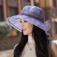 太阳帽女防晒户外韩版百搭遮脸出游沙滩海边遮阳帽女士凉帽
