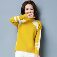 冬季新品短款套头冬装加厚半高领羊毛衫女针织打底毛衣羊绒衫