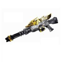 儿童玩具枪电动连发加特林*黄金战鹰步枪自动发光机枪狙击枪 +电子计分标靶