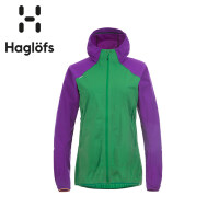 Haglofs火柴棍女款运动户外弹力连帽舒适软壳夹克602510 欧版