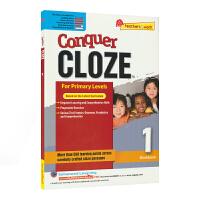 【首页抢券300-100】SAP Conquer Cloze 1 一年级英语完型填空专项训练练习册 攻克完形填空系列 7