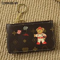 天天维尼熊卡包女式可爱个性银行卡套超薄2019新款女士小巧零钱包