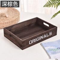 木盒子桌面化妆品收纳盒木质正方形盒子复古花盆杂物盒办公整理盒